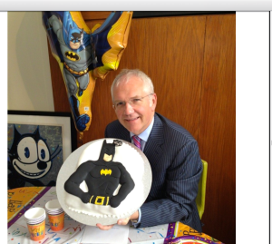 Paul loved the Batman cake and balloon I surprised him with for his 50th birthday. 3 October 2102